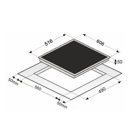 EKI6050/4R Flex, Induktions-Kochfeld, 60 cm, Edelstahlrahmen – Bild 2