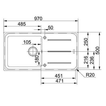 Franke Küchen-Spüle Impact IMG 611-100 (114.0177.611) - Fragranit Onyx – Bild 3