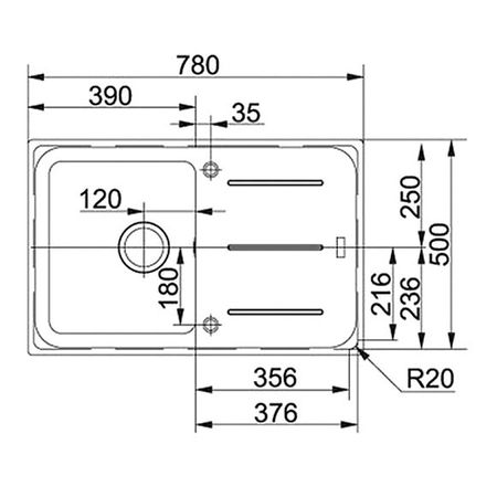 Franke Küchen-Spüle Impact IMG 611 (114.0177.629) - Fragranit Sahara – Bild 3