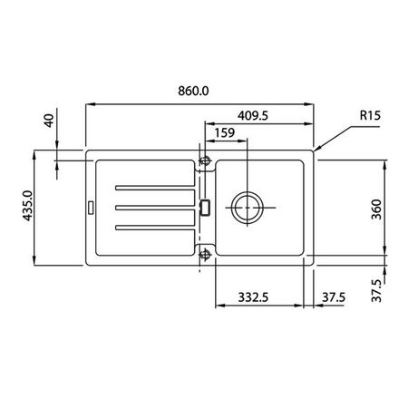 Franke Küchen-Spüle STG 614 (114.0259.825) - Fragranit Graphit – Bild 5