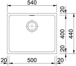 Franke Küchen-Spüle Kubus KBG 110-50 (125.0023.806) - Fragranit Graphit – Bild 2