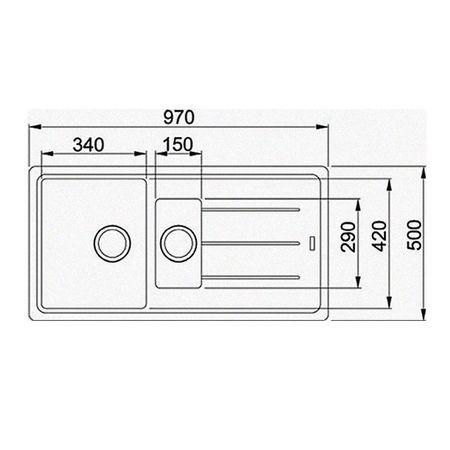 Franke Küchen-Spüle Basis BFG 651 (114.0256.627) - Fragranit Steingrau – Bild 2