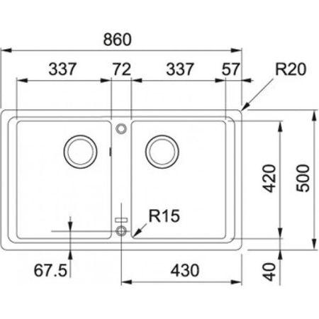 Franke Küchen-Spüle Basis BFG 620 (114.0302.015) - Fragranit Steingrau – Bild 2