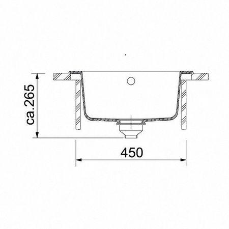 Franke Küchen-Spüle Pamira ROG 610-41 (114.0009.541) - Fragranit Sahara – Bild 2