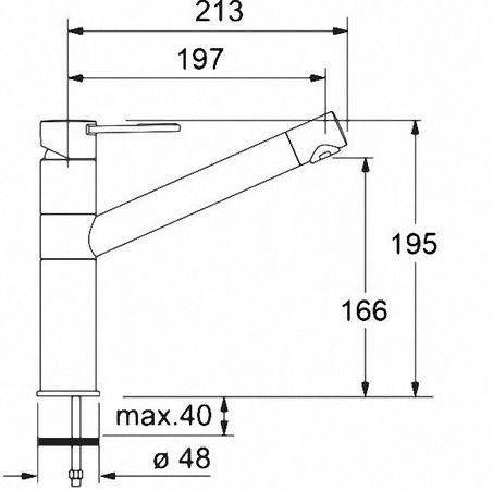 Franke Küchen-Armatur 250 Edelstahl-Optik  – Bild 2