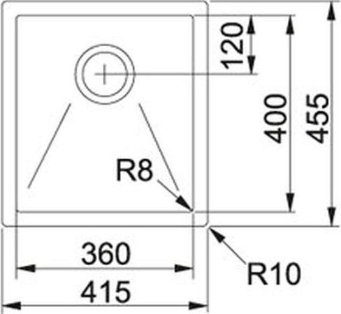 Franke Küchen-Spüle Planar 8 PEX 210-42 (127.0197.872) - Edelstahl  – Bild 2
