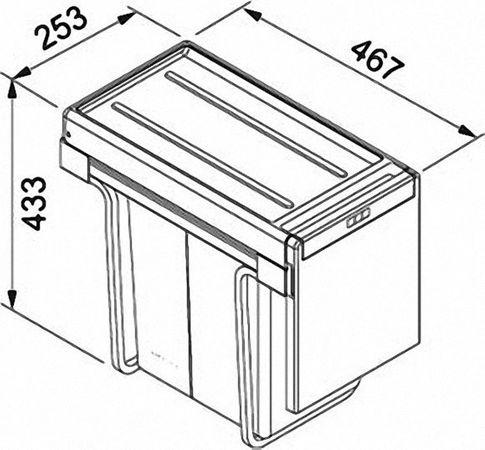 Franke Abfalltrennsystem Cube 30 (134.0039.554)