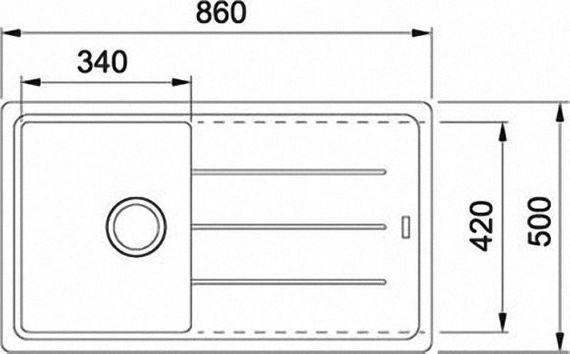 Franke Basis BFG 611-86  Einbau-Spüle  Fragranit Graphit Siebkorb- Excenterventil – Bild 2