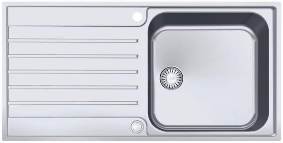 Franke AGX 211-100 Küchenspüle rostfreier Edelstahl mit Druckknopfventil Reversibel 127.0380.396 – Bild 1