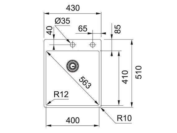 Franke Box BXX 210-40 A Edelstahl-Spüle glatt Spülbecken Küchenspüle Einbauspüle  – Bild 2