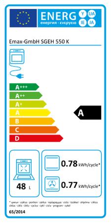 EMAX Gas/Elektro-Standherd SGEH 550 K, 50 cm – Bild 2