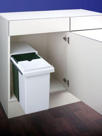 Einbau Abfallsammler Mülleimer Abfalleimer WESCO Double Boy grün weiß 30 Liter
