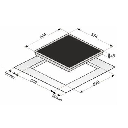 Highlight-Kochfeld KB-K6050-4RL, Glaskeramik 60 cm, rahmenlos – Bild 2