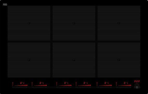 Induktions-Kochfeld KB-IK8050-6RL-Flex, Schott-Ceran, 80 cm, Rahmenlos – Bild 1