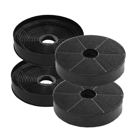 Super Sparset: 4 Aktiv-Kohlefilter Ersatzfilter für Mastercook Dunstabzugshaube WK-Proteus 90XN – Bild 1