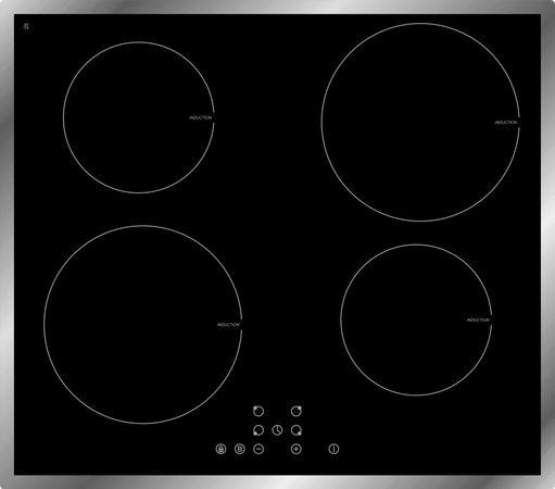 Induktions-Glaskeramikkochfeld mit 4-fach Booster IN4 B