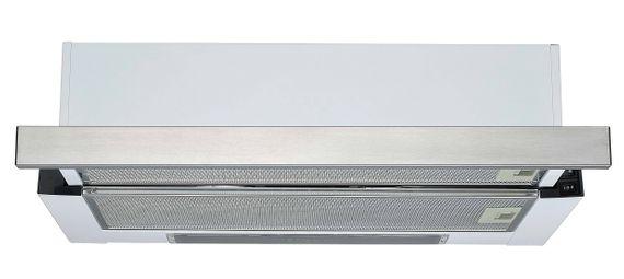 Flachschirmdunstabzugshaube 60 cm Silber mit Edelstahlblende UBH6002-2H – Bild 1