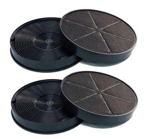 Super-Sparset 4Stk.  Aktivkohle-Filter - Ersatzfilter für EFF62 AEG 50290659007 / Electrolux Kohlefilter 9029793578 – Bild 1