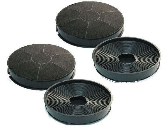 Spar-Set: 4 Stk. Aktivkohle-Filter universell passend für Dunstabzugshauben von AEG, Bauknecht, Whirlpool, Electrolux - Kohlefilter Typ 30 – Bild 1