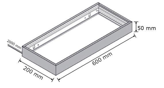 LED Glasbodenleuchte Edelstahloptik in 450, 600, 900 und 1200 mm Breite – Bild 6