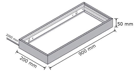 3er-Set LED Wandregal beleuchtet - Glasbodenleuchte Edelstahloptik 90cm, neutralweiß, mit 2m Kabel und Schalter – Bild 3