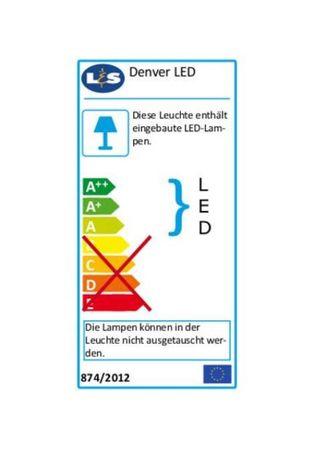 3er Set LED Wandregal beleuchtet, Glasbodenleuchte Edelstahloptik 450 mm – Bild 4
