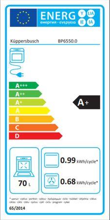 Küppersbusch Pyro-Backofen BP 6550.0 W2 Design Black Chrome inkl. 1 Teilauszug ZB 1003 – Bild 4