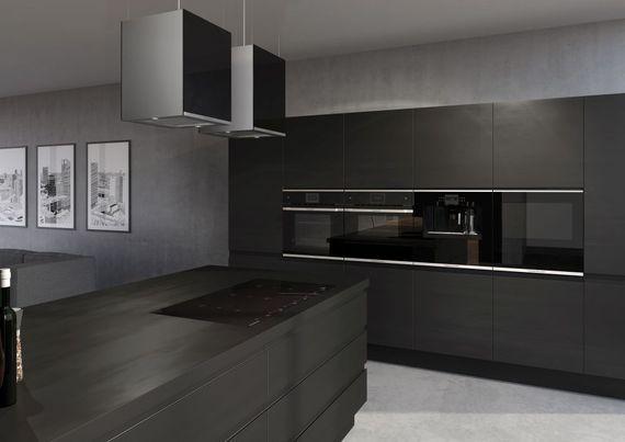 Küppersbusch Pyro-Backofen schwarz mit Design-Kit Gold BP 6550.0 S4 – Bild 3