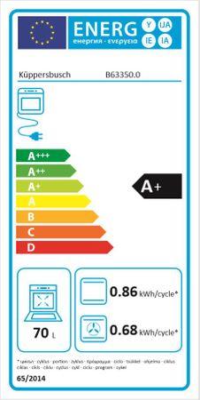 Küppersbusch Backofen schwarz mit Design-Kit Black Chrome, EEK A+  – Bild 8