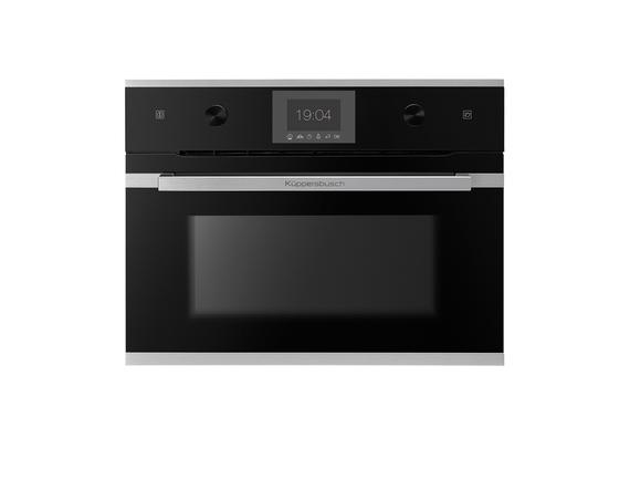 Küppersbusch Einbau- Kompakt-Dampfgarer CD 6350.0 S1 schwarz mit Design-Kit Edelstahl – Bild 1