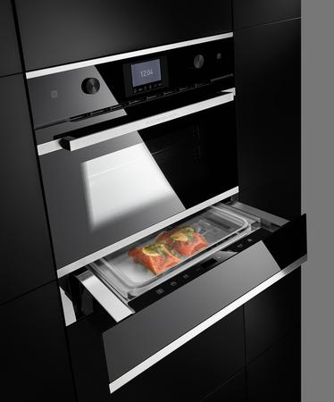 Küppersbusch Kompakt-Dampfgarer CD 6350.0 S3 schwarz mit Design-Kit Silver Chrome – Bild 3