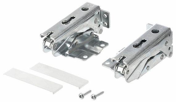 Flachscharnier-Set 6tlg. 00481147 - Kühlschrank-Scharnier Reparatur-Satz - Freilauf oben/unten (2 Stk + Ersatz-Zubehör) – Bild 2