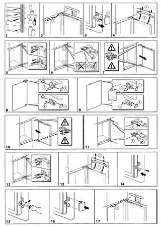 Flachscharnier-Set 6tlg. 00481147 - Kühlschrank-Scharnier Reparatur-Satz - Freilauf oben/unten (2 Stk + Ersatz-Zubehör) – Bild 4