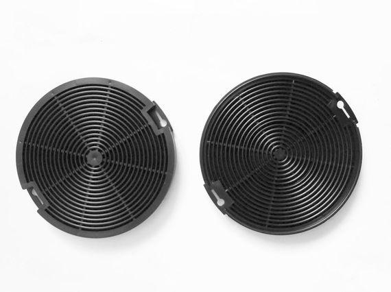Keenberk Aktiv-Kohlefilter-Set (2 Stk.) EFF 75 rund - Ersatz-Filter für Faber / Franke - 112.0067.942 112.0254.245, Ikea NYTTIG FIL400, Progress, Elektro-Helios EFP6500X / A  – Bild 1
