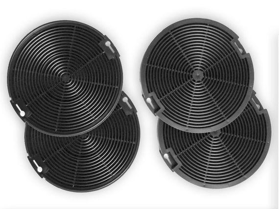 4x Aktivkohlefilter passend für AEG-Elektrolux EFF75 4055093712 , 942492436 NEU – Bild 1