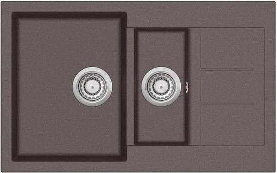 Granitspüle Victory 80cm x 50cm Küchenspüle Einbauspüle ab 60 Schrank W800 braun – Bild 1