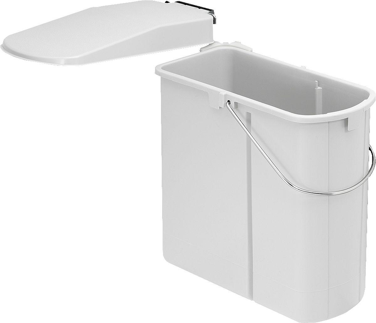 Wesco flach Einbau Abfallsammler Mülltrenner Abfalleimer Abfallsystem Küche  19L