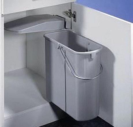 Wesco flach Einbau Abfallsammler Mülltrenner Abfalleimer Abfallsystem Küche 19L – Bild 2