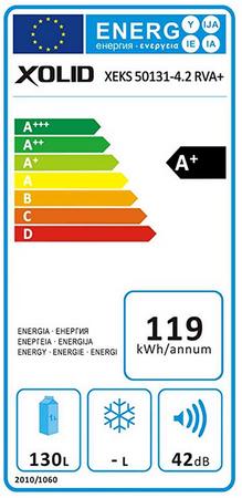 Xolid Einbaukühlschrank 88 er Nische XEKS 50131-4.2 RV A+ – Bild 3