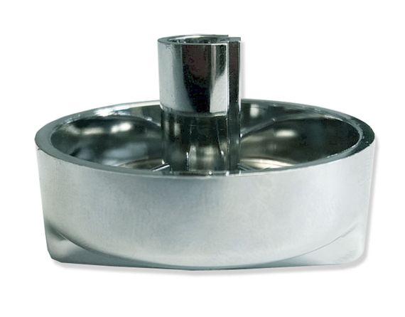 Drehexcenter-Kappe neutral - rund 44 mm x 30 mm hoch - Kunststoff in Chrom-Optik - Drehknopf  Ersatzteil für Küchenspülen mit Excenterventil  – Bild 3