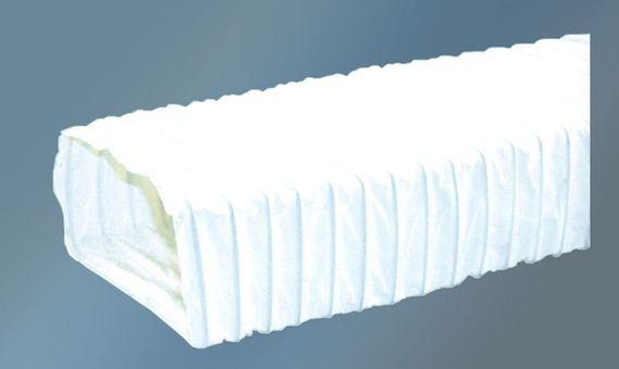 Set für 150-er Abluft-System rechteckig flach - 2 Verbinder und 1 flexibler Abluftschlauch für Dunstabzugshauben  – Bild 3