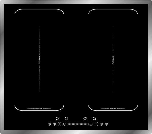 Induktionskochfeld 60 cm Flächeninduktion 2 Doppel-Flexzonen Autark Booster Sensor Touch – Bild 3