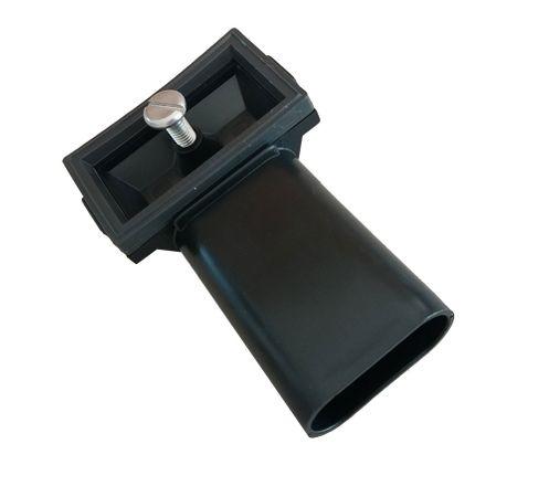 keenberk Spülenüberlauf Anschluss für Edelstahl-Küchenspülen mit rechteckigem Überlaufloch/Überlaufgitter im Becken inkl. Dichtung und Befestigungsschraube – Bild 1