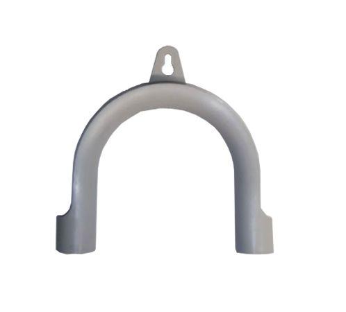 3,5m Ablaufschlauch für Waschmaschine oder Geschirrspüler, grau , inkl. Bügel und Schlauchschellen - 2 gerade Tüllen gesteckt - beidseitig Muffe 19mm – Bild 3