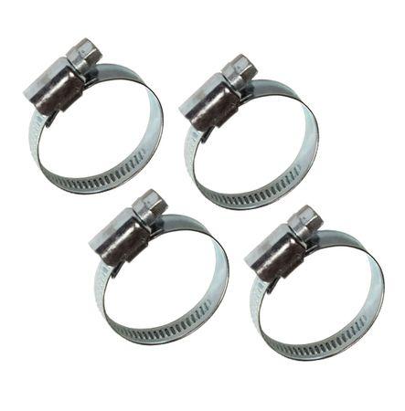 4 Stück Schlauchschellen Schlauchklemmen 9 mm Bandbreite, Spannweite/Durchmesser  20-32 mm 3/4 Zoll, verzinkt