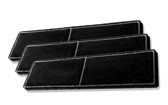 Keenberk 3x Geruchsfilter DKF 18 mit Aktivkohle - Filter passend für Miele Umlufthauben DA2806 DA2808 DA2900 DA2905 DA2906 DUU2900 DUU1000 – Bild 1