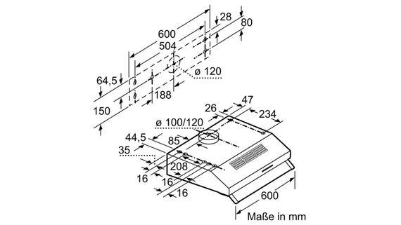 Bosch Abzugshaube DUL62FA51 - Serie 2 Unterbauhaube 60cm - Edelstahl - EEK: D (von A++ bis E) – Bild 6