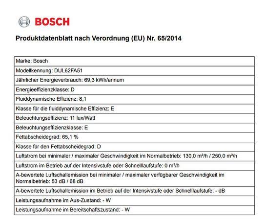 Bosch Abzugshaube DUL62FA51 - Serie 2 Unterbauhaube 60cm - Edelstahl - EEK: D (von A++ bis E) – Bild 5