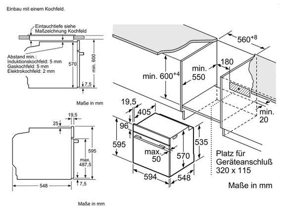 Bosch Einbaubackofen HBA3140S0 Backofen Autark Ofen Teleskopauszug 3D Heißluft – Bild 7