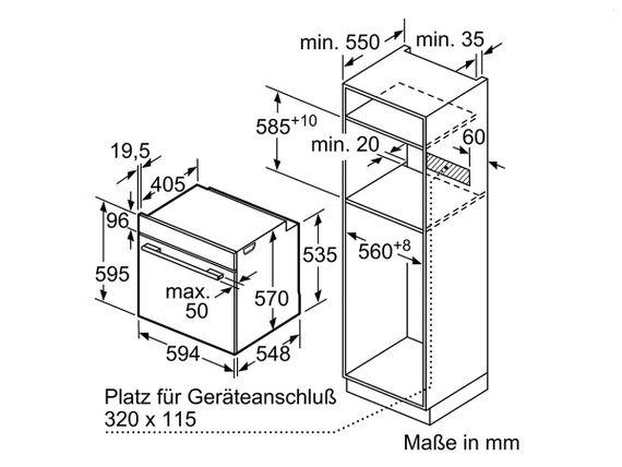Bosch Einbaubackofen HBA3140S0 Backofen Autark Ofen Teleskopauszug 3D Heißluft – Bild 8